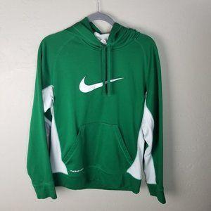 Nike Men's Small Green Long Sleeve Hoodie Sweatshi